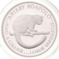 Madagaszkár 1988. 20A Ag Lemúr T:PP Madagascar 1988. 20 Ariary Ag Lemur C:PP Karuse KM#15