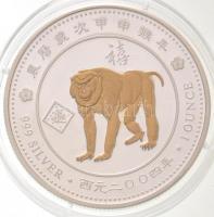 Togo 2004. 1000Fr Ag Pávián T:PP Togo 2004. 1000 Francs Ag Baboon C:PP Krause KM#34