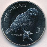 Új-Zéland 1999. 5D Cu-Ni Kakukkbagoly T:BU New Zealand 1999. 5 Dollars Cu-Ni Morepork C:BU Krause KM#115