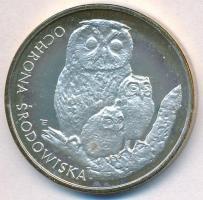 Lengyelország 1986. 500Zl Ag Bagoly és fiókák T:PP patina Poland 1986. 500 Zlotych Ag Owl with 2 chicks C:PP patina Krause Y#162