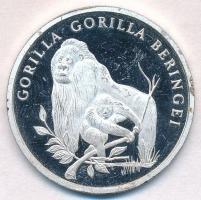 1986. 30 éves a WWF / Gorilla jelzett Ag emlékérem (20,12g/0.999/38,5mm) T:1-(PP) 1986. WWF - 30 years / Gorilla hallmarked Ag commemortaive medal (20,12g/0.999/38,5mm) C:AU(PP)