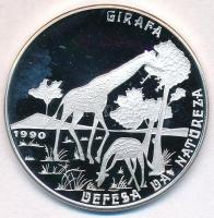 Mozambik 1990. 500M Ag Természetvédelem - Zsiráf T:PP Mozambique 1990. 500 Meticais Ag Defense of Nautre - Giraffes C:PP Krause KM#113