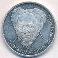 NSZK 1988D 10M Ag Arthur Schopenhauer T:1-(PP) FRG 1988D 10 Mark Ag Arthur Schopenhauer C:AU(PP) Krause KM#168