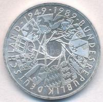 NSZK 1989G 10M Ag 40 éves az NSZK T:1- FRG 1989G 10 Mark Ag 40 Year - German Federal Republic C:AU