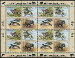 Endangered animals (2nd) minisheet, Veszélyeztetett állatok (II). kisív