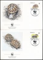 WWF Greek turtle set 4 FDC WWF: Görög teknős sor 4 FDC-n