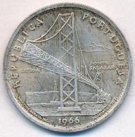 Portugália 1966. 20Esc Ag Salazar-híd megnyitása T:2 patina Portugal 1966. 20 Escudos Ag Salazar Bridge C:XF patina