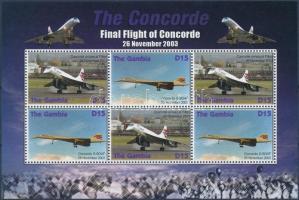 Concorde, airplane mini sheet, Concorde, repülő kisív