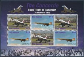 Concorde airplane minisheet, Concorde repülő kisív
