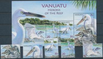Western Reef Heron set + block, Zátonykócsag sor + blokk