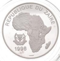 Zaire 1996. 500Z Ag Leopárd T:PP fo. Zaire 1996. 500 Zaires Ag Leopard C:PP spotted Krause KM#20