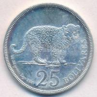 Venezuela 1975. 25B Ag Jaguár T:1 Venezuela 1975. 25 Bolivares Ag Jaguar C:UNC Krause Y#46