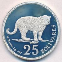 Venezuela 1975. 25B Ag Jaguár T:1(PP) Venezuela 1975. 25 Bolivares Ag Jaguar C:UNC(PP) Krause Y#46
