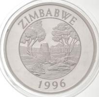Zimbabwe 1996. 10$ Ag Leopárd T:PP fo. Zimbabwe 1996. 10 Dollars Ag Leopard C:PP spotted Krause KM#9