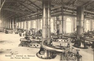 Geneve, Interieur du Batiment des Forces Motrices / power plant interior, waterworks