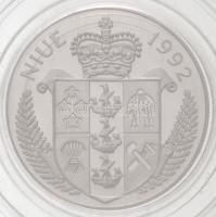 Niue 1992. 5$ Ag Veszélyeztetett Állatvilág - Jaguár T:PP fo. Niue 1992. 5 Dollars Ag Endangered Wildlife - Jaguar C:PP spotted Krause KM#60