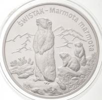 Lengyelország 2006. 20Zl Ag Alpesi Mormota T:PP / Poland 2006. 20 Zlotych Ag Alpine Marmot C:PP Krause Y#535