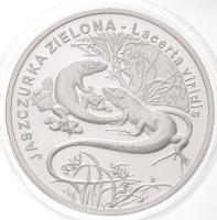 Lengyelország 2009. 20Zl Ag Zöld Gyík T:PP Poland 2009. 20 Zlotych Ag Green Lizard C:PP Krause Y#679