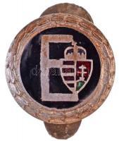 ~1930-1940. E (Egyetemi Sport Club) zománcozott fém gomblyukjelvény (15mm) T:2