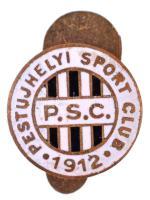 ~1930-1940. Pestujhelyi Sport Club 1912 - P.S.C. zománcozott gomblyukjelvény T:2