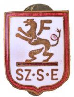 ~1930-1940. Sz.S.E (Csillaghegyi Sz.S.E.?) zománcozott gomblyukjelvény (14x17mm) T:2