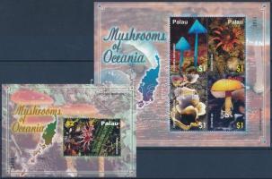 Mushroom mini sheet + block Gomba kisív + blokk
