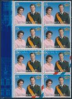 Royal family margin block of 8, Királyi család ívszéli 8-as tömb