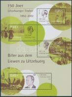 150 éves a bélyeg Luxemburgban blokk, Stamp in Luxembourg block