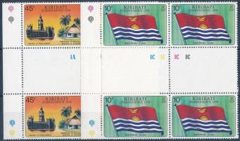 Flag set margin blocks of 4 Zászló sor ívszéli négyestömbökben