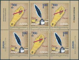 Europa CEPT stamp-booklet sheet, Europa CEPT bélyegfüzetlap