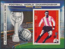 Football World Cup  imperf. block Futball világbajnokság vágott blokk