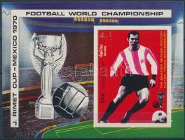 1970 Futball világbajnokság vágott blokk Mi 125
