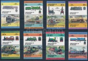 Gőzmozdonyok (II). db sor párban, Locomotives (II) set in pairs