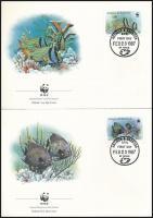 WWF: Fishes set 4 FDC, WWF: Halak sor 4 db FDC-n