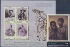 2006 Rembrandt festmények kisív + vágott blokk Mi 6320-6323 + 668
