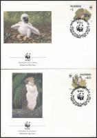 Eagle set on 4 FDC WWF Majomevő sas sor 4 db FDC-n