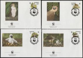 WWF Eagle set on 4 FDCs, WWF Majomevő sas sor 4 db FDC-n
