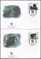 1994 WWF Maláj medve sor 4 db FDC-n Mi 1410-1413
