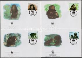 WWF sun bear set 4 FDC Maláj medve sor  4 db FDC-n