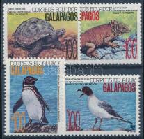 WWF The wildlife of the Galapagos Islands set 4 values + 4 FDC, WWF: A Galápagos-szigetek élővilága sor 4 értéke + 4 db FDC
