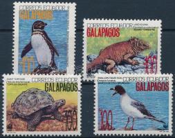 WWF The wildlife of the Galapagos Islands set 4 values + 4 FDC, WWF: A Galápagos-szigetek élővilága sor 4 értéke + 4 db FDC