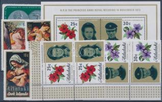 1972-1973 2 sets + 1 stamp + 1 block 1972-1973 2 klf sor + 1 önálló érték + 1 blokk