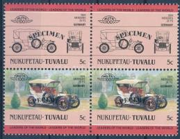 Automobile pair with 'SPECIMEN' overprint, Autómobil pár 'SPECIMEN' felirattal
