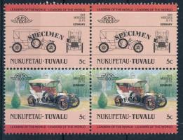 Automibile pair with 'SPECIMEN'  overprint Autómobil pár  'SPECIMEN' felirattal