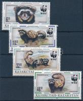 1997 WWF: Tigrisgörény sor Mi 154-157 + 4 db FDC