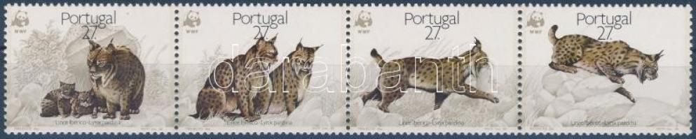 WWF: Ibériai hiúz sor négyescsíkban, WWF Iberian lynx set stripe of 4