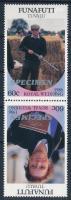 1986 Királyi esküvő pár Mi 76-77 SPECIMEN felirattal