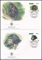 WWF: Bonobo block of 4, WWF: Bonobó négyestömb