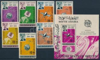 100th anniversary of ITU set + block, 100 éves az ITU sor + blokk