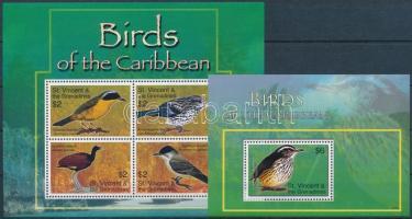 Birds minisheet + block, Madarak kisív + blokk